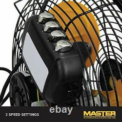 12 Industrial High-Velocity Floor Fan, Direct Drive, All-Metal Construction
