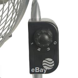 20 High Velocity Floor or Wall Mount 3-Speed Fan Portable Cool Air Home Metal