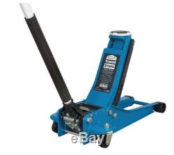 2 Ton tonne 74mm Extra Low Profile Floor Jack Garage Twin Piston Quick Lift
