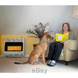 30K BTU Radiant Propane Heater Vent Free Thermostat Wall Floor DOESNT SHIP TO CA