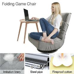360-Degree Swivel Gaming Chair, Folding Floor Chair with 7 Adjustable Position