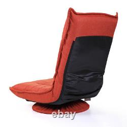 360 Degree Swivel Video Rocker Gaming Chair Adjustable Angle Floor Chair Red