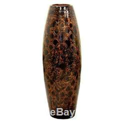 36 in. Tall Antique Style Brown Floor Vase