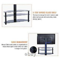 3-in-1 Floor TV Stand Swivel Mount for 32-70 inch LED LCD Flat Screen TVs