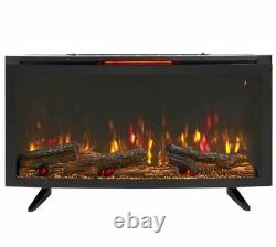 42 Wall Mount Electric Fireplace Heater w Stand & Remote Control/ Classic Flame