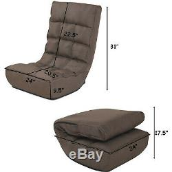 4-Position Adjustable Floor Chair Folding Lazy Sofa Cushioned Couch Lounger New