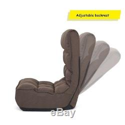 4-Position Adjustable Lounge Lazy Sofa Bed Indoor Floor Folding Chair Recliners