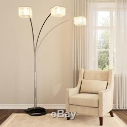 84 in. 3 Crystal Inspirational Arch Floor Lamp