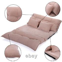 Adjustable Folding Leisure Sofa Bed with 2 Pillows Floor Chaise Lounge Sofa Chair
