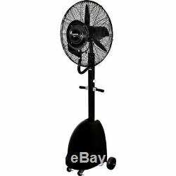 Commercial 26 High-Velocity Outdoor Misting Fan, Black Industrial Utility Cool
