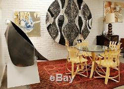 Contemporary Modern Stainless Steel w Patina Acceptance Sculpture Kate Silvio