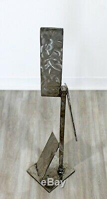 Contemporary Stainless Steel Abstract Table Floor Sculpture by Robert Hansen