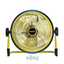 Cordless 12 in. Variable speed floor fan with power bank feature geek aire max