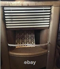 DEARBORN Vintage Gas Heater with Hose working! Missing one brick