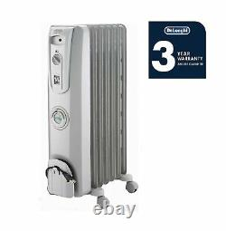 DeLonghi Oil-Filled Radiator Space Heater, Quiet 1500W, Adjustable Thermostat
