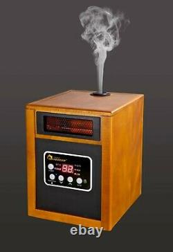 Dr. Infrared Heater Portable Space Heater with Humidifier, 1500-Watt, Cherry