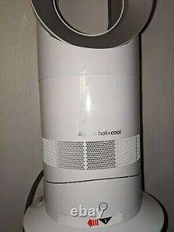Dyson AM09 Hot + Cool Jet Focus Fan Heater Full White Used WithRemote FREE SHIPPIN