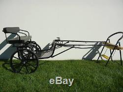 EZ Entry Small Mini Horse Cart Metal Floor with45 Shafts with21 Solid Rubber Tires
