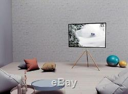 Eletab White Artistic Easel 45 to 65 Screen TV Tripod Adjustable Floor Stand