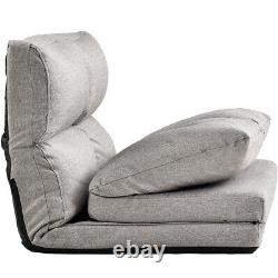 Fabric Folding Chaise Lounge Floor Sofa withPillows Tatami Lazy Lounge Couch Chair