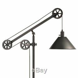 Farmhouse Floor Lamp Industrial Rustic Modern Country Mechanical Pulley Style