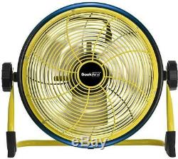 Floor Fan 12 in. 15600 mAh Rechargeable Cordless with Power Bank Feature