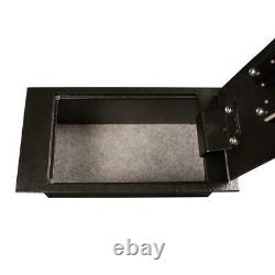 Floor Safe Storage Box Security Vault Lock Tray Jewelry File Cash Steel Key Coin