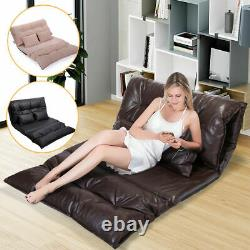 Foldable Floor Sofa Bed Living Room Furniture Lounge Bed Video Game with 2 Pillows