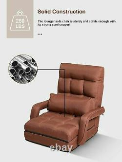 Folding Floor Chair Arms Back Support Floor Sofa Gaming Chair Adults Lazy Sofa