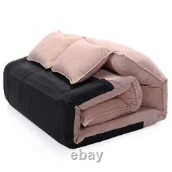 Folding Floor Sofa Bed Lounge Chaise Video Gaming Sofa Bed Lazy Couch with2 Pillow