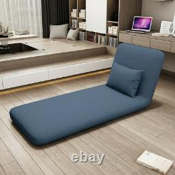 Folding Soft Floor Sofa Bed With Pillows Adjustable Tatami Lazy Lounge Couch Chair