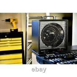 Garage Electric Heater 5600W 500 Sq. Ft. Area Coverage 220V Thermostat Black New