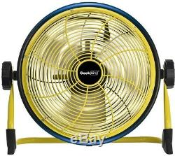 Geek Aire Cordless 12 in. Variable Speed Floor Fan with Power Bank Feature