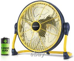 Geek Aire Fan, Battery Operated Floor Fan, Rechargeable Powered High Velocity Po
