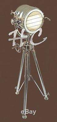 Hollywood Nautical Search Light Floor Lamp Spotlight With Revolving Tripod Stand