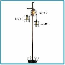 Industrial Floor Lamp Shade Pendant Cage Steampunk Reading Office Edison Bulb