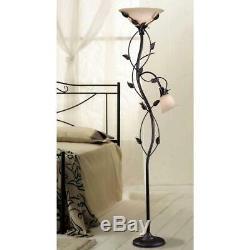 Kenroy Home Ashlen 72 in. Oil-Rubbed Bronze Mother and Son Torchiere Floor Lamp