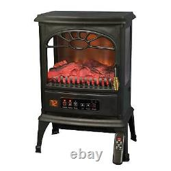 LifeSmart 1500W Large Room 3-Sided Portable Electric Infrared Stove Space Heater