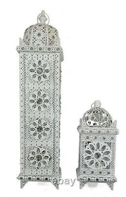 Moroccan Style Floor / Table Lamp Jeweled Cutwork Flower Stunning Brand New