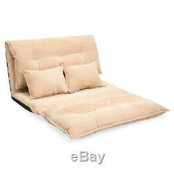 Multi-Position Flip Chair Floor Seat Gaming Sofa Loveseat Bed Guest Daybed Comfy
