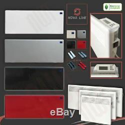 NOVA LIVE Designer Electric Convector Panel Heaters (Wall or Floor Mounted)