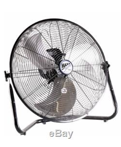 New 20 Floor Fan High Velocity 3 Speed Air Circulating Strong Powerful Airflow