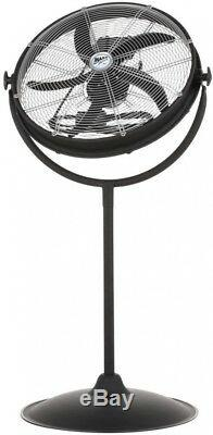 New MaxxAir 20 in. Pedestal Fan with Outdoor Rating Heavy Duty Metal Pull Chain