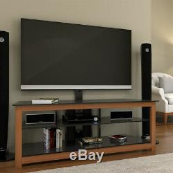Ryan Rove Bombay Floor TV Stand with Cherry Wood Mount Entertainment Center