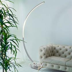 Searchlight 1070SS Colton Single LED Floor Lamp Metal/Satin Silver/Polycarbonate