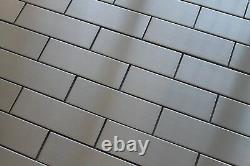 Stainless Steel 2 x 6 Mosaic Tiles for a Kitchen Backsplash or Accent Wall