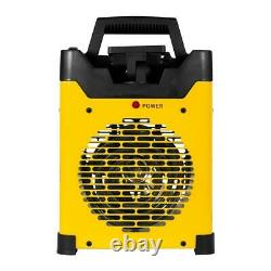 Stanley Electric Forced Air Space Fan Heater LED Light USB Charging 5,100 BTU