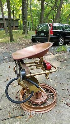 Steampunk Steel Sculpture Car and Tractor parts bar stool