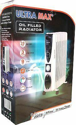 Ultramax 9 Fin Radiator Wt Timer And Larger Surface Area For Extra Powerful Heat