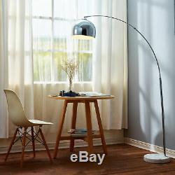 Versanora Arquer 66.93 Arquer Arc Floor Lamp With Chrome Finished Shade An